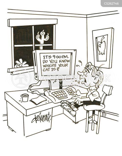 left alone cartoon