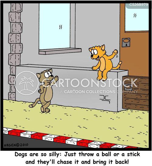 chasing sticks cartoon