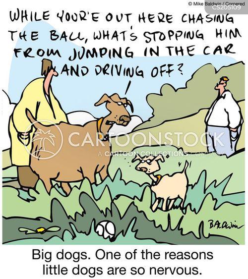 nervous dogs cartoon