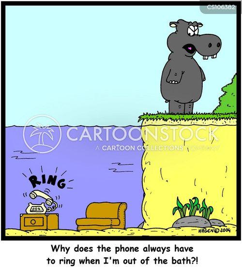 phone-call cartoon