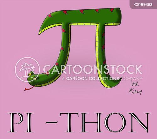 pi symbol cartoon