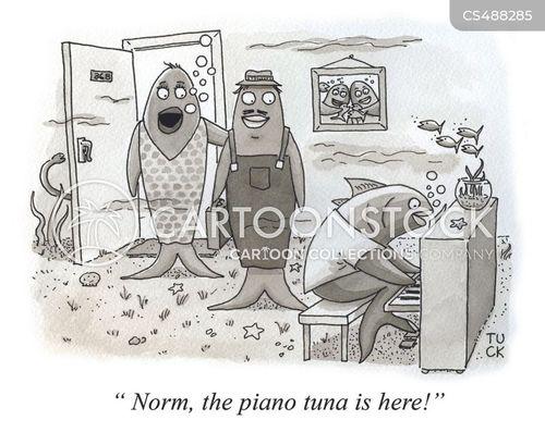 piano tuners cartoon