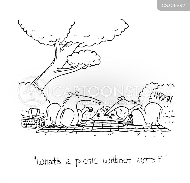 eating ants cartoon