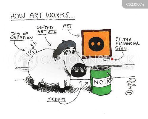 artistes cartoon