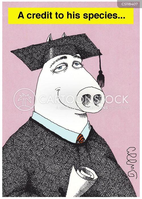 college grad cartoon