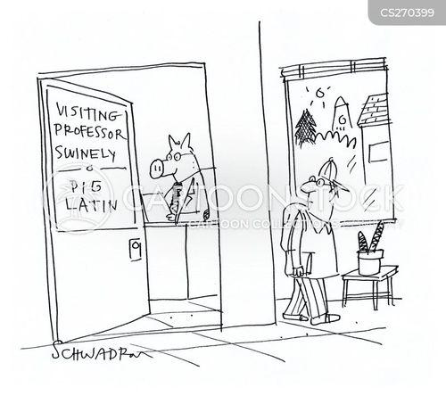 visiting professor cartoon