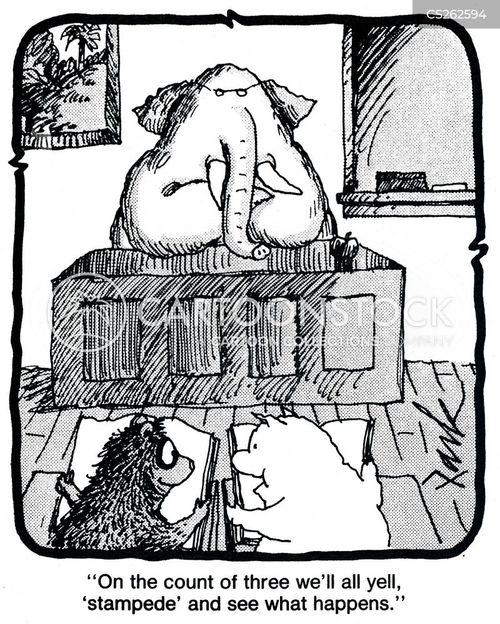 stampeded cartoon