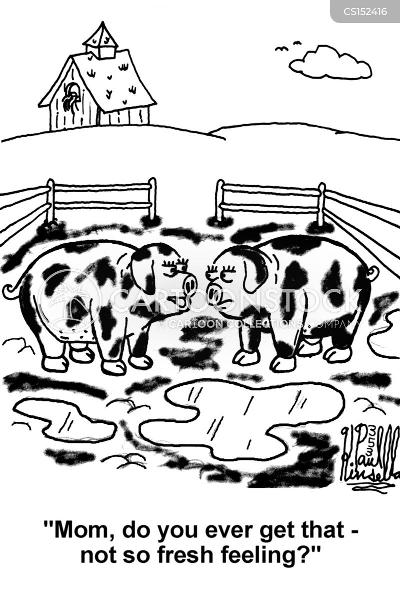 pig pen cartoon