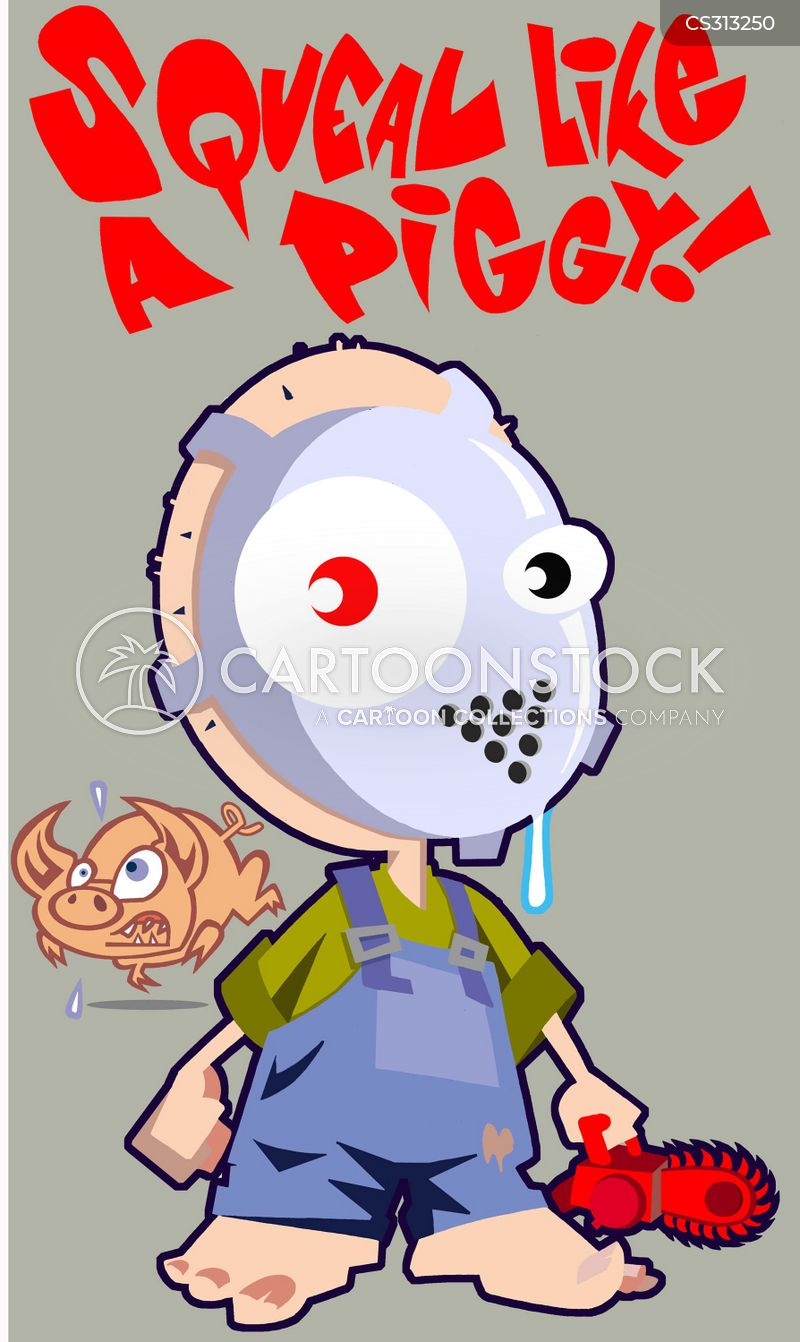 hockey mask cartoon