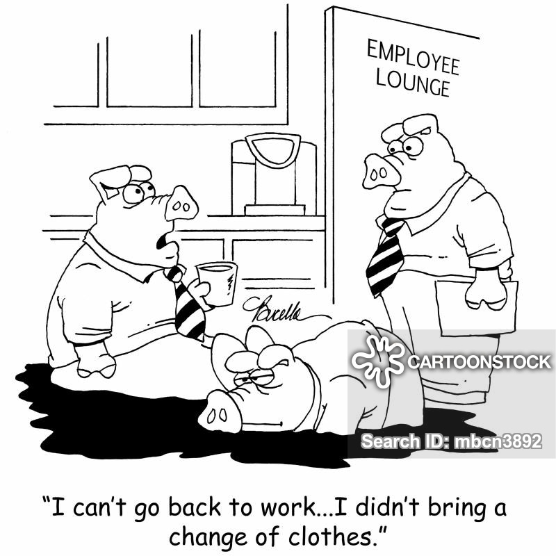 employee lounge cartoon