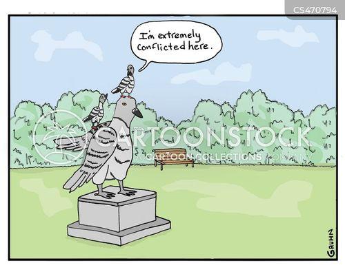 pigeon poo cartoon