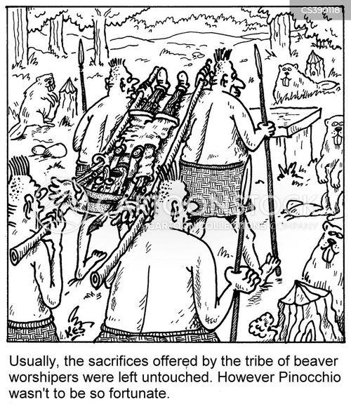 worshipers cartoon