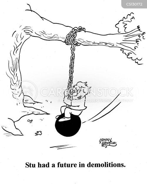 tire swings cartoon