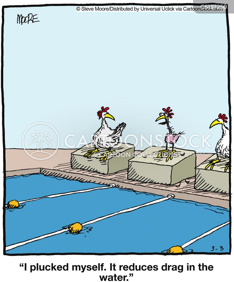 swimming cartoon