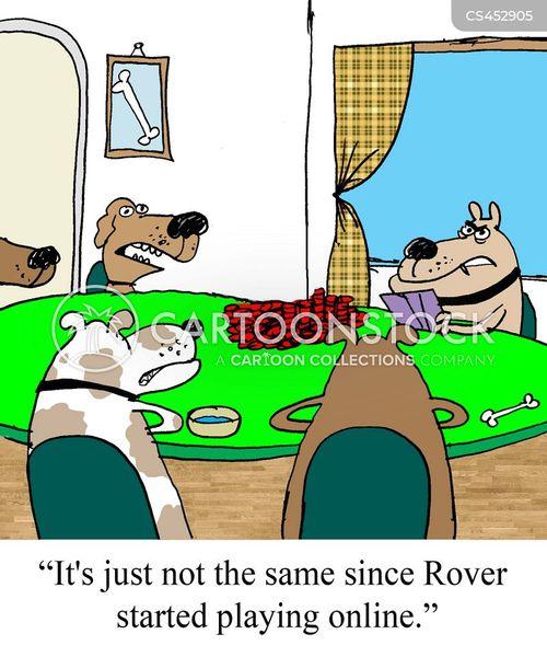 internet poker cartoon