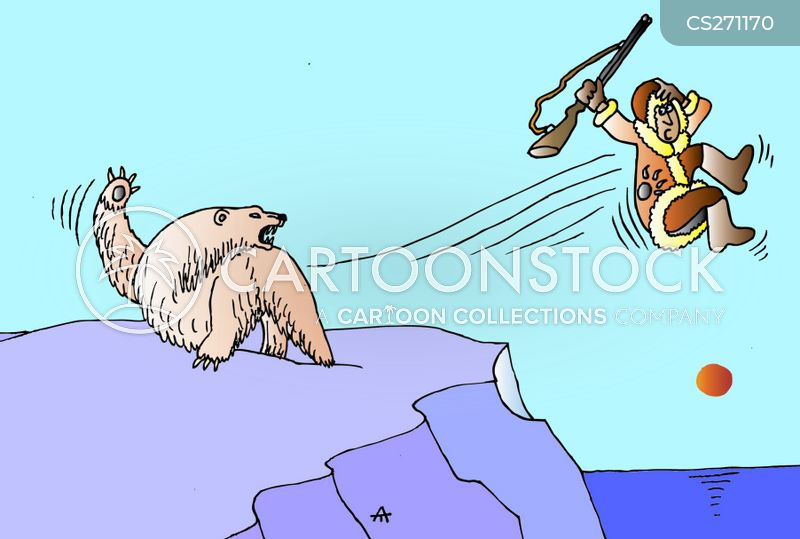bear hunter cartoon