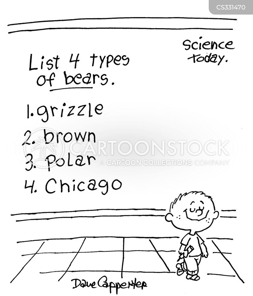 science test cartoon