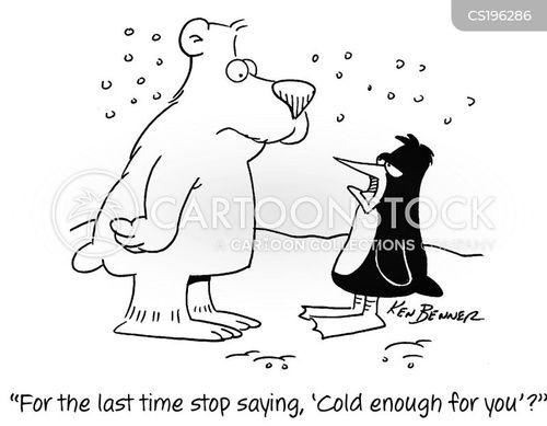 arctic conditions cartoon