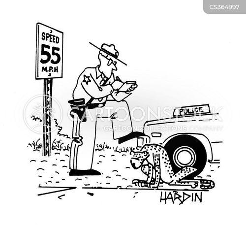 speeding fine cartoon