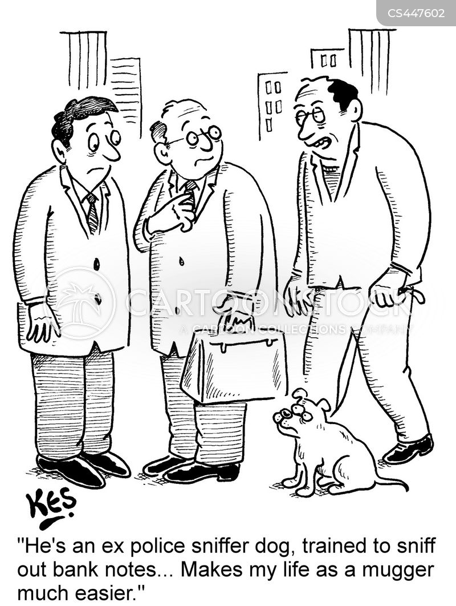 detection dogs cartoon