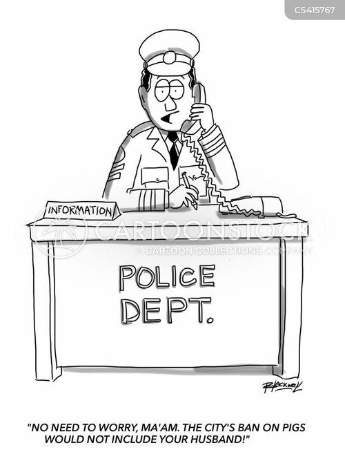 police departments cartoon