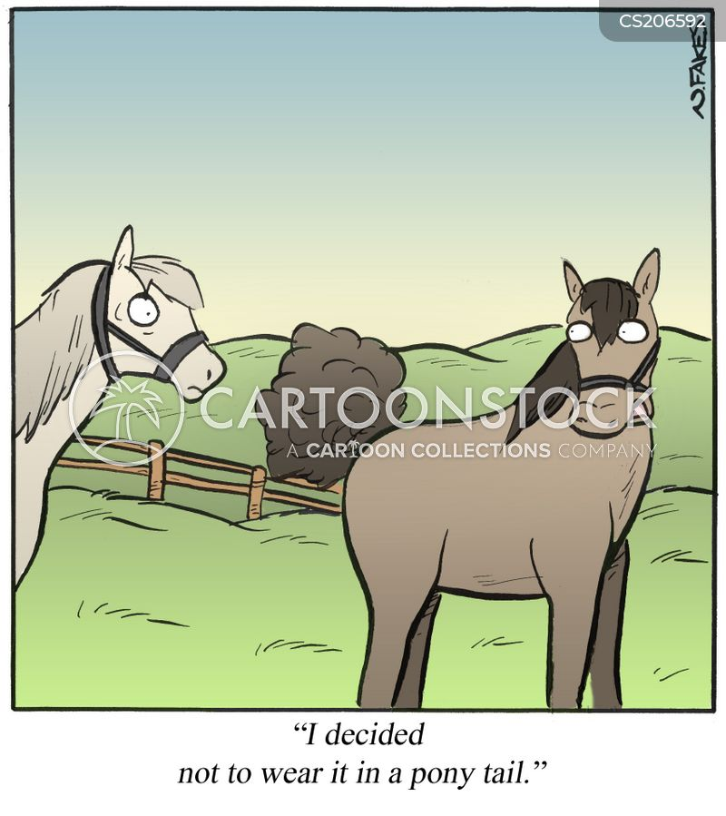 dressage competition cartoon