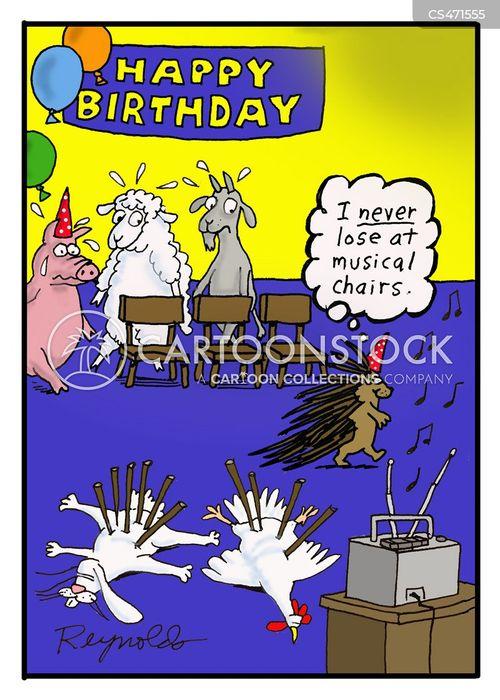 birthday games cartoon