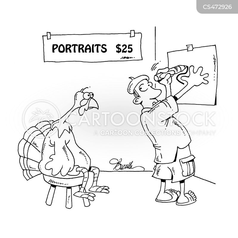 portrait painter cartoon