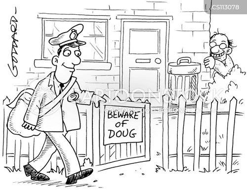 mail men cartoon