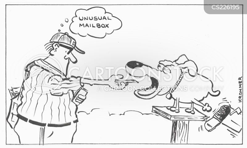 postal carrier cartoon