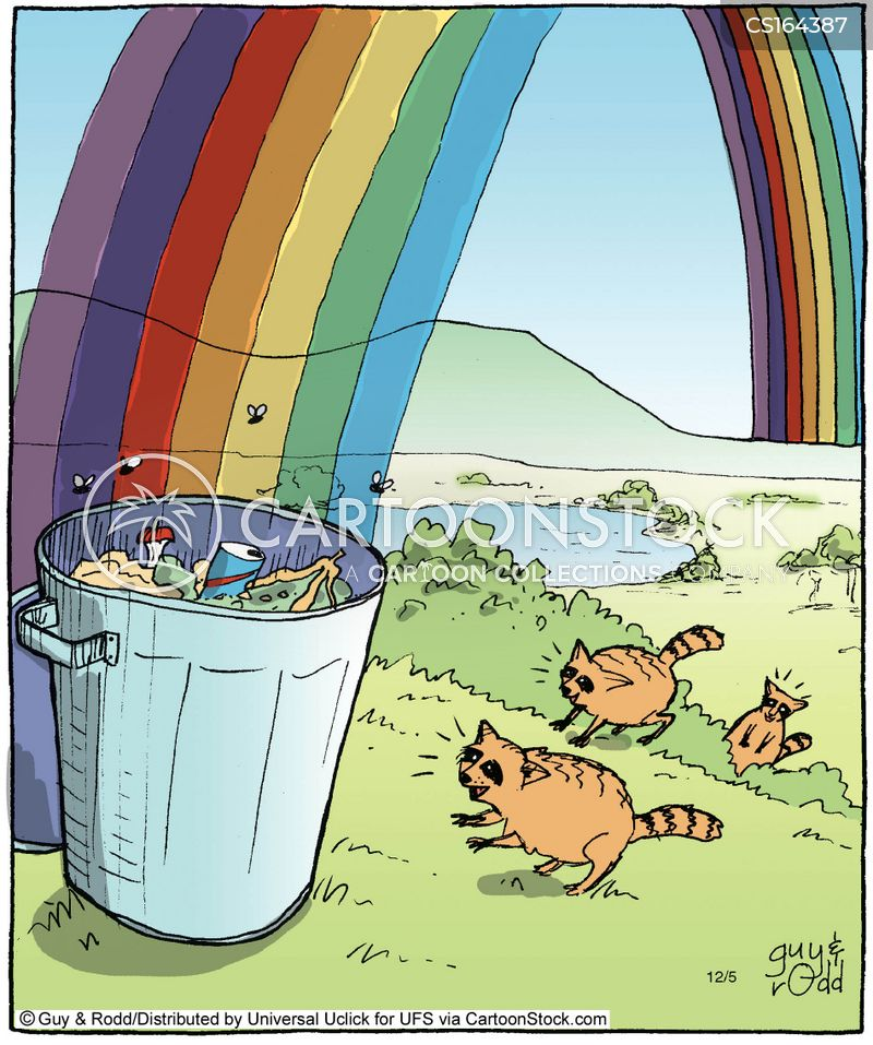 end of the rainbow cartoon