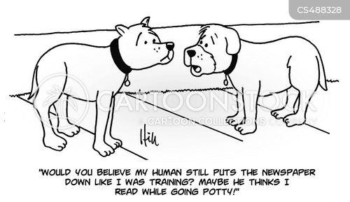 dog trained cartoon