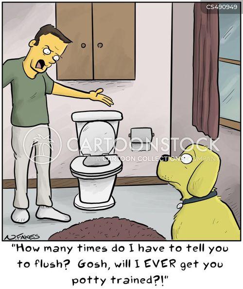 potty trains cartoon