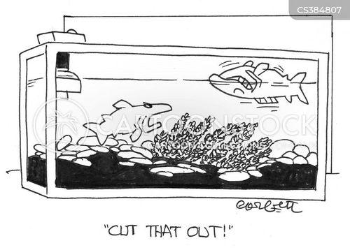 dead fish cartoon