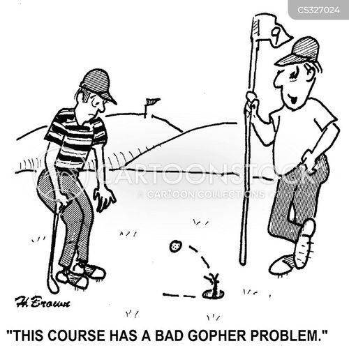 burrowing cartoon