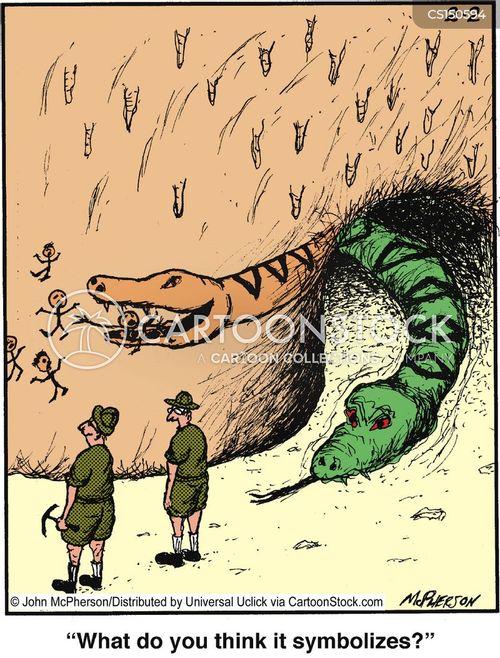 giant snake cartoon