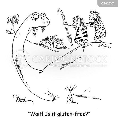 gluten allergies cartoon