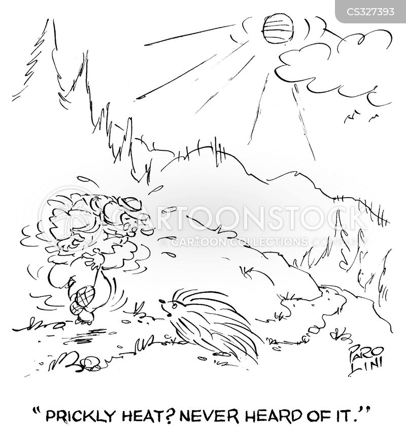 Heat Rash Cartoons and Comics - funny pictures from CartoonStock