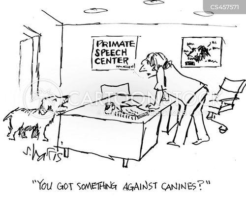 primate speech cartoon