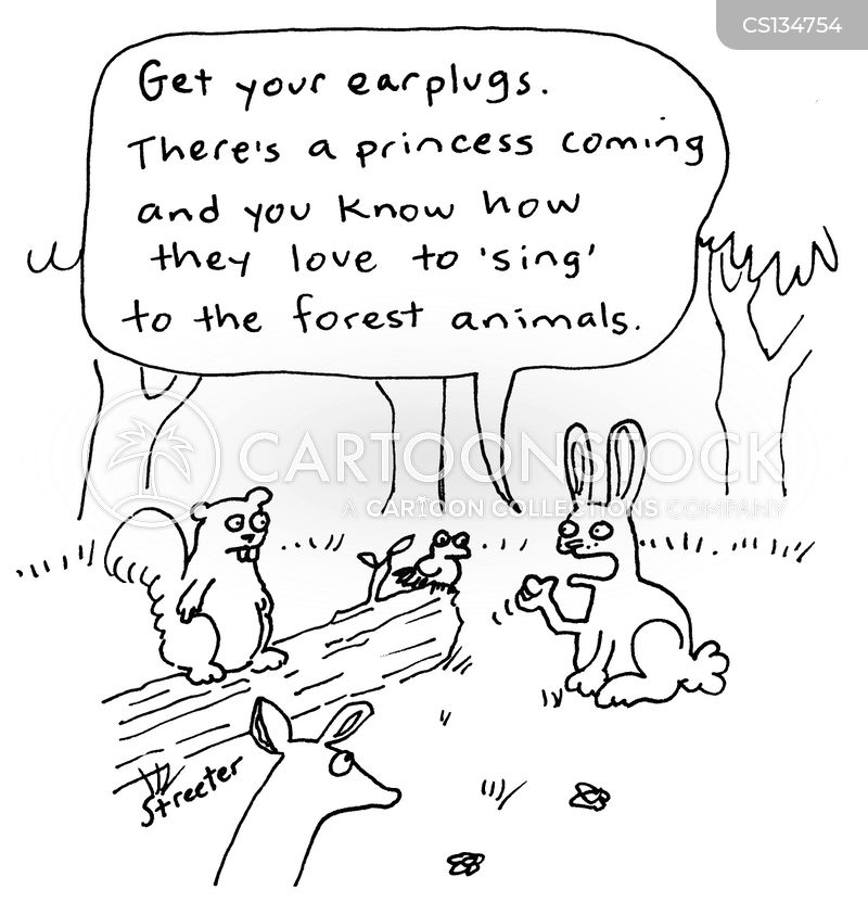 earplugs cartoon