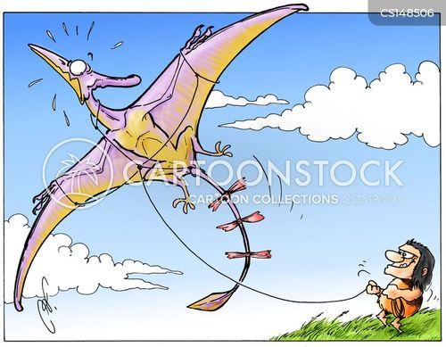 kite flyer cartoon
