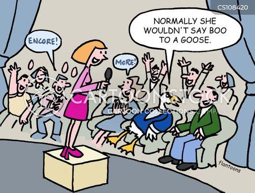 boo to a goose cartoon