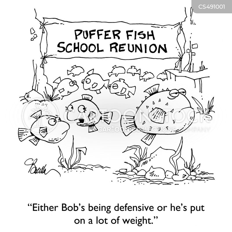 puffer fishes cartoon