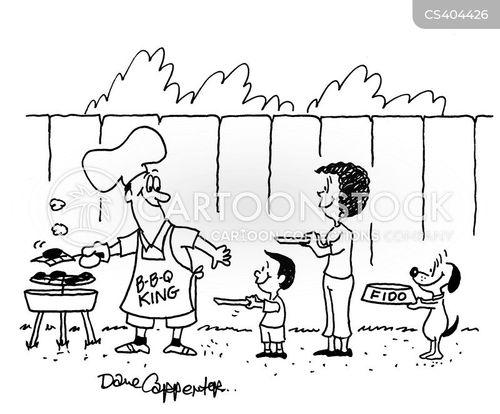 barbequing cartoon