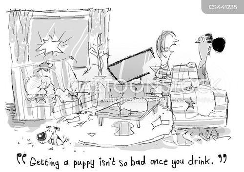 puppy training cartoon