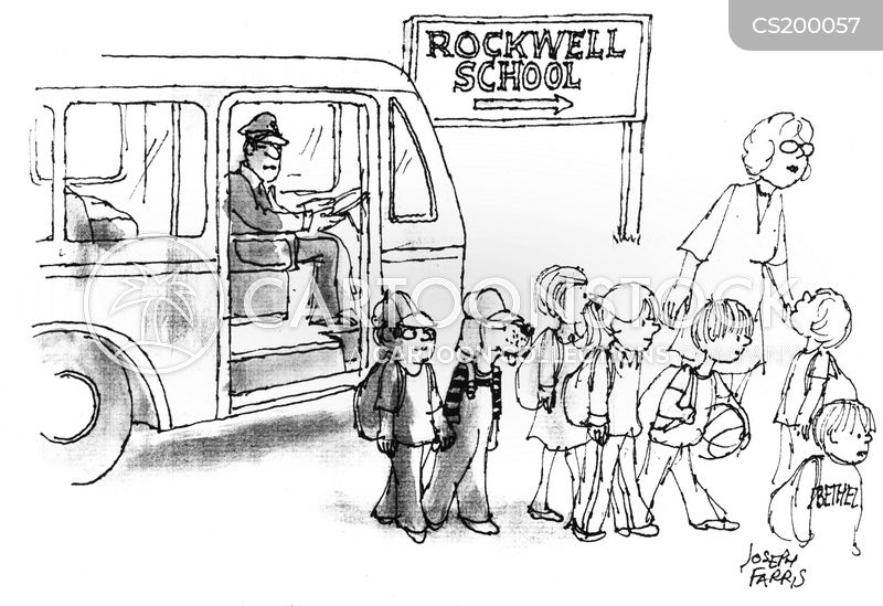school buses cartoon