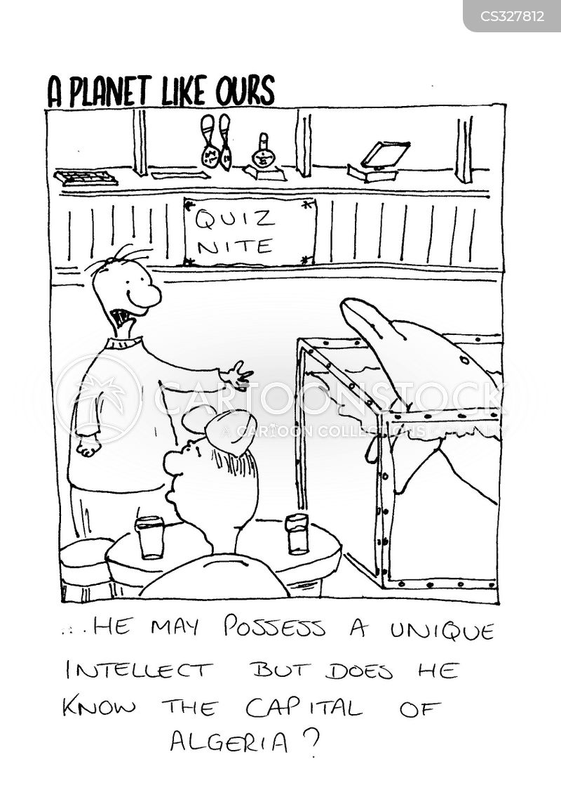 pub quiz nights cartoon