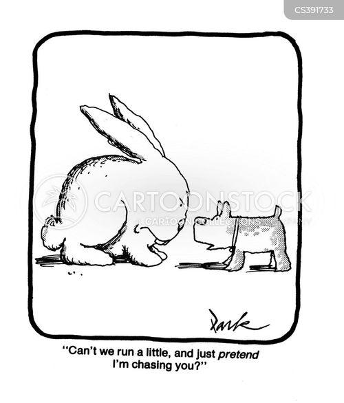 chasing rabbits cartoon