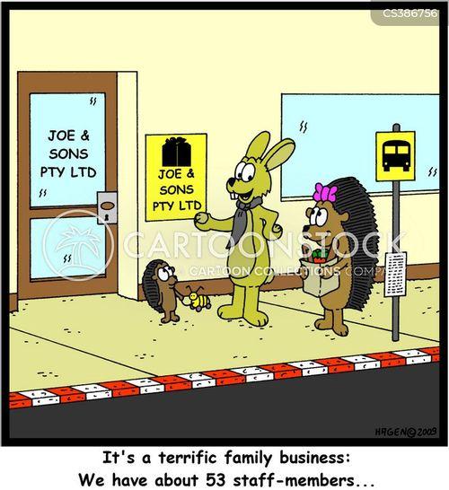 staff member cartoon
