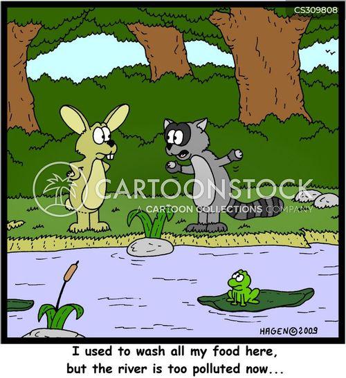endangered environment cartoon